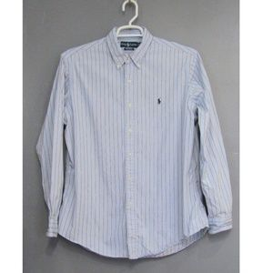 Ralph Lauren Custom Fit Blue & Brown Stripe XL